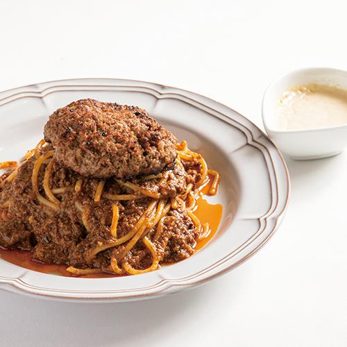 最高級赤城和牛8 時間煮込み肉塊ミートパスタ黒トリュフソース